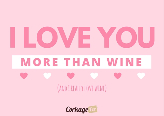 Valentine's Day ecard from wine lover