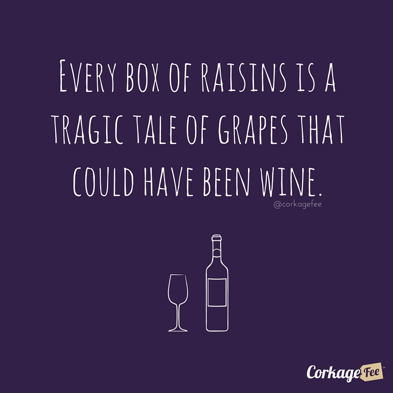 Raisins should be wine