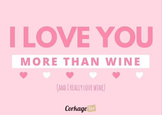 Valentine's Day ecard from wine lover